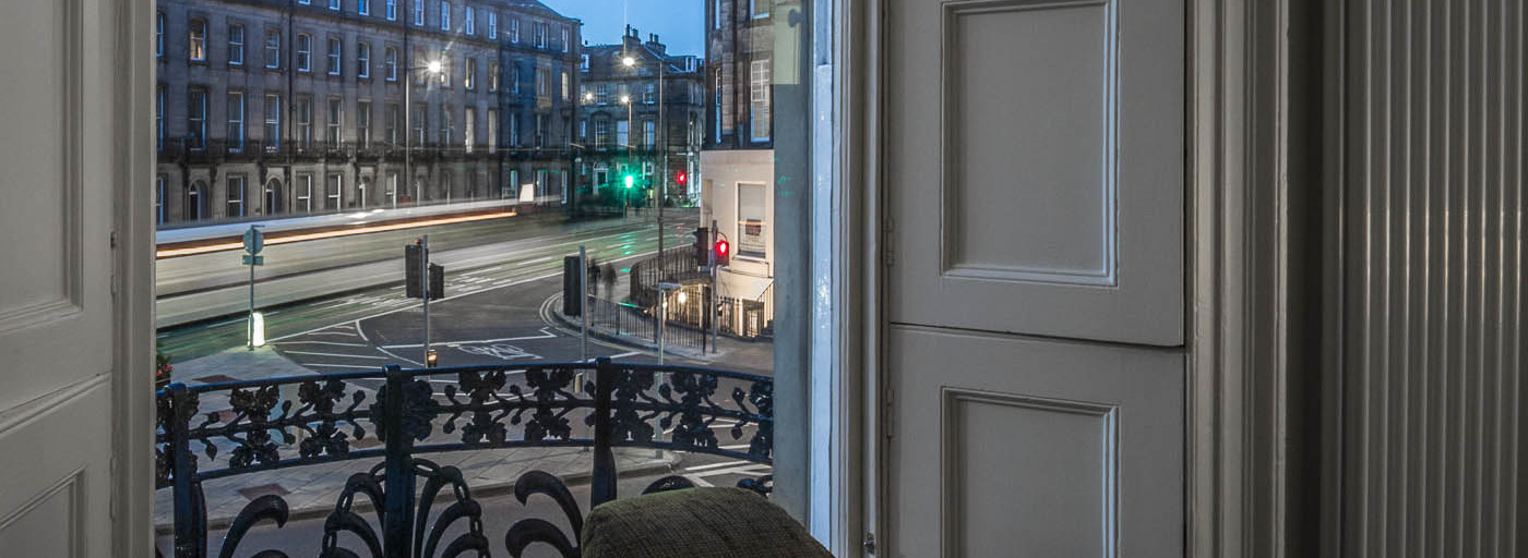 Stunning views from our large windows at Haymarket Apartments