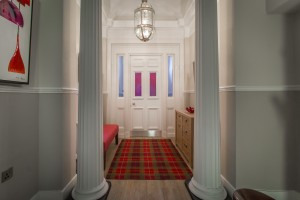 The welcoming entrance hall of Haymarket Apartments
